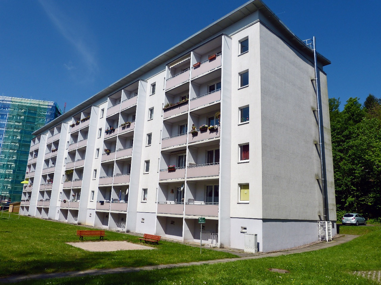 3-Raum-Wohnung in ruhiger Lage und herrlichem Ausblick